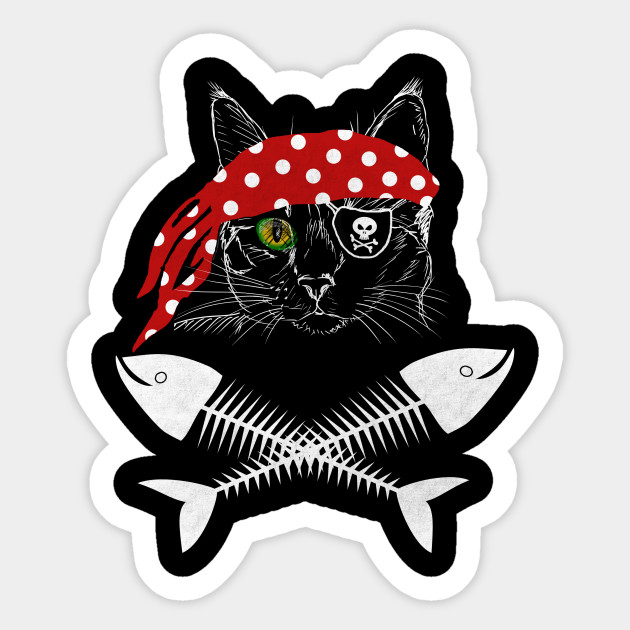 photo about Pirate Flag Printable titled Cat Pirate T blouse Jolly Roger Flag Skull and Crossbones