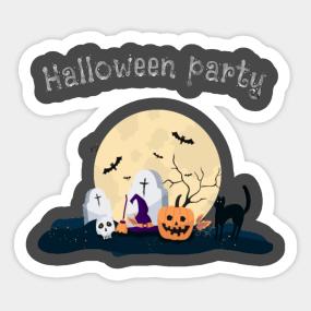 Halloween Party Idea Stickers | TeePublic