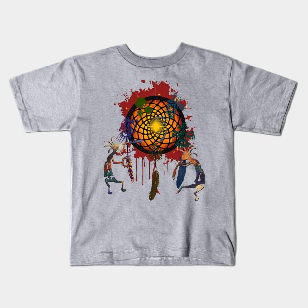 Kokopelli Musican Dreamcatcher Of Earth - Kokopelli - Kids T-Shirt ... 4bce7c6f099d