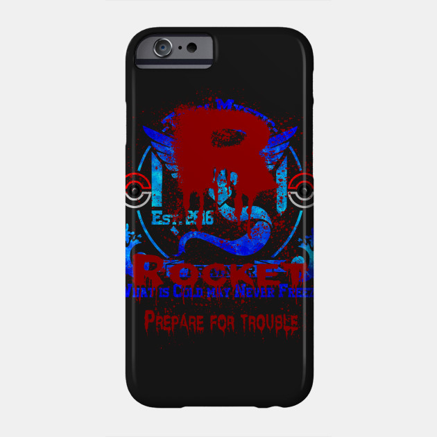 Pokemon Team Rocket Motto iphone case