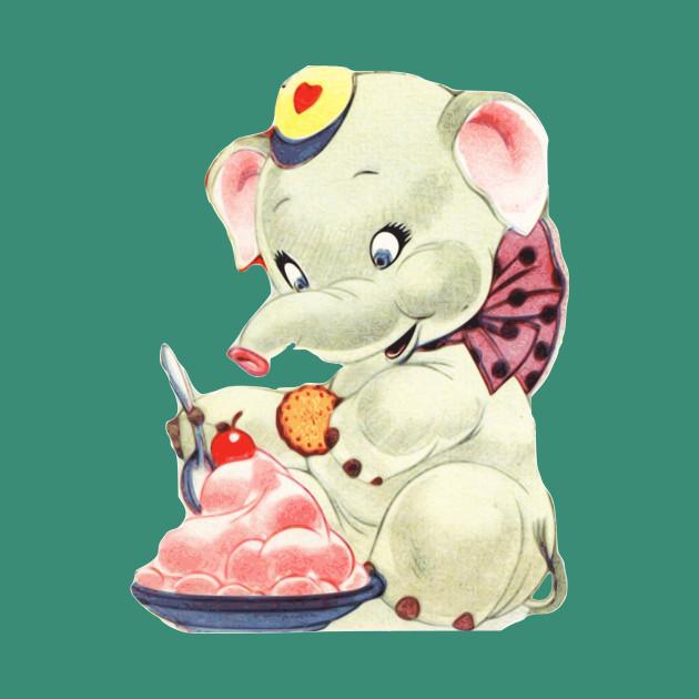 Baby Elephant eating Icecream