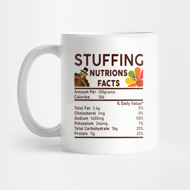 Stuffing Nutrition Facts Funny Thanksgiving S Men Women T Mug