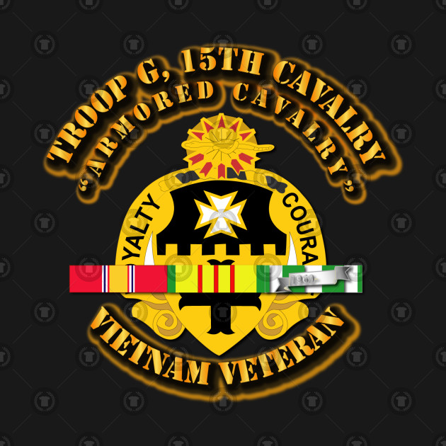 Troop G, 5th Cavalry (Armored Cavalry) w SVC Ribbons