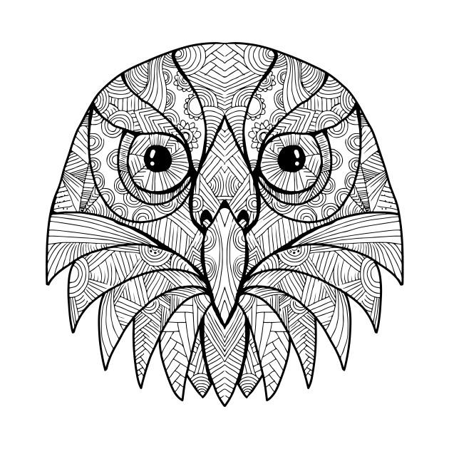 australian barking owl mandala t shirt