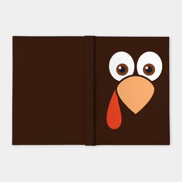 Cute Cartoon Turkey Face Thanksgiving Notebook Teepublic