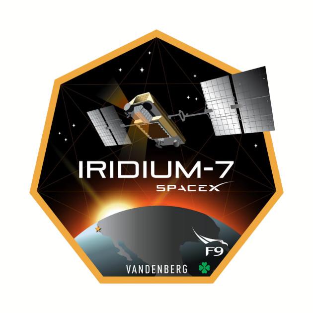 Iridium Next 7 Launch Team Logo