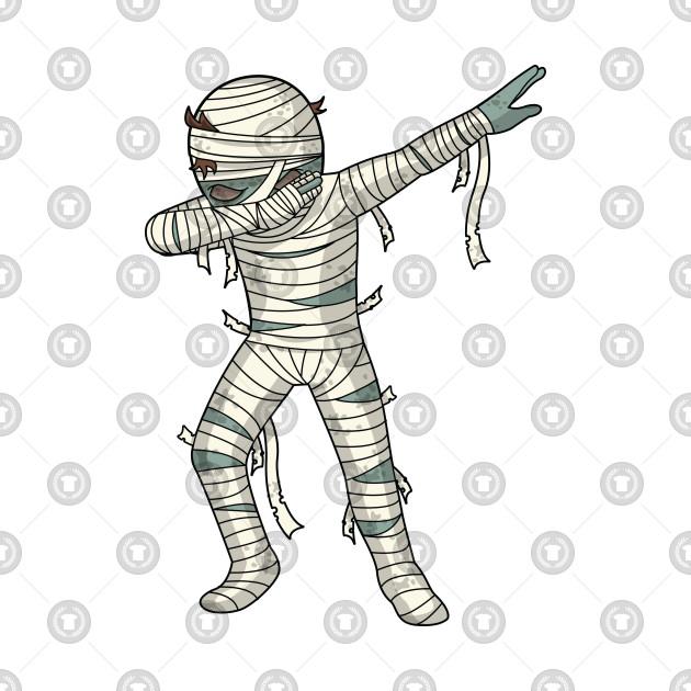 Dabbing Mummy Halloween Dab Dance Pose