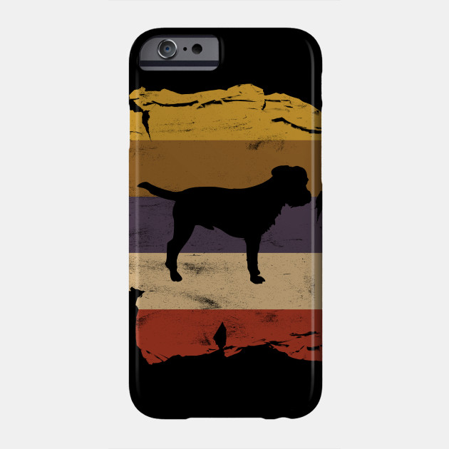 Border Terrier Distressed Vintage Retro Silhouette Phone Case
