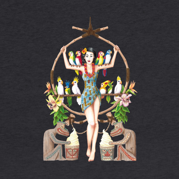 Enchanted Tiki Room Pinup