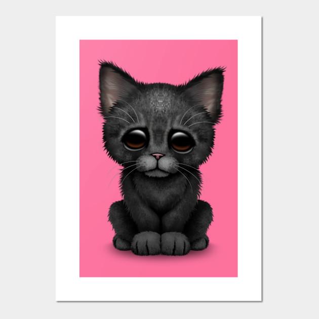 Cute Black Kitten Cat Kitten Posters And Art Prints Teepublic