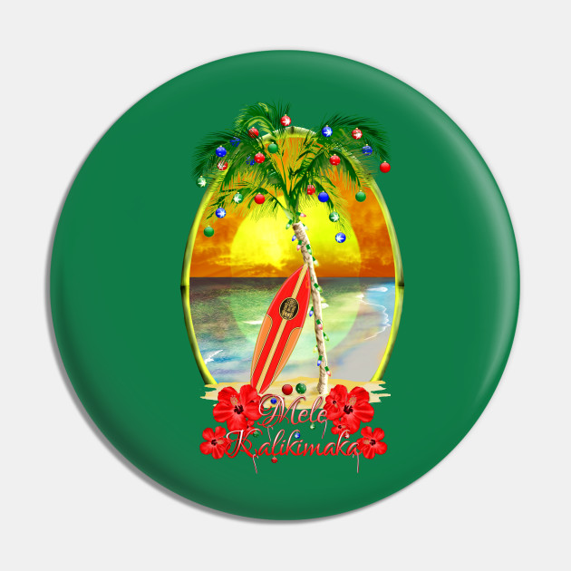 Mele Kalikimaka Hawaiian Surfing Christmas