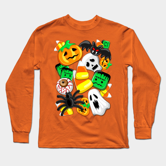 Halloween Spooky Candies Party Long Sleeve T-Shirt