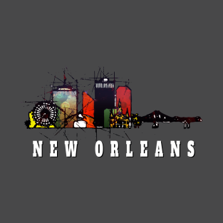 New Orleans skyline t-shirts