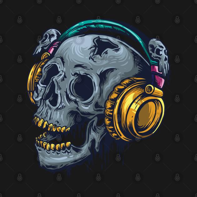 Skull-With-Headphones