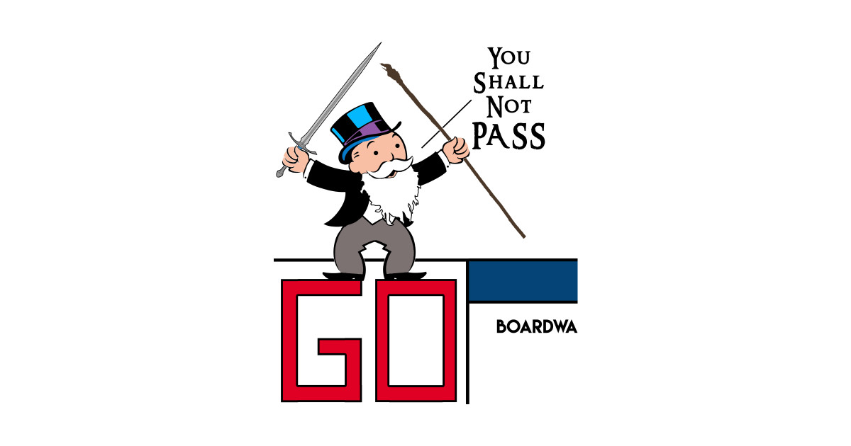 b421b372 You Shall Not PASS!!! - Lord Of The Rings - Sticker | TeePublic