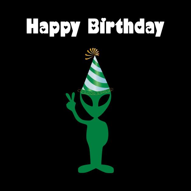 Alien Happy Birthday - Alien - Tapestry