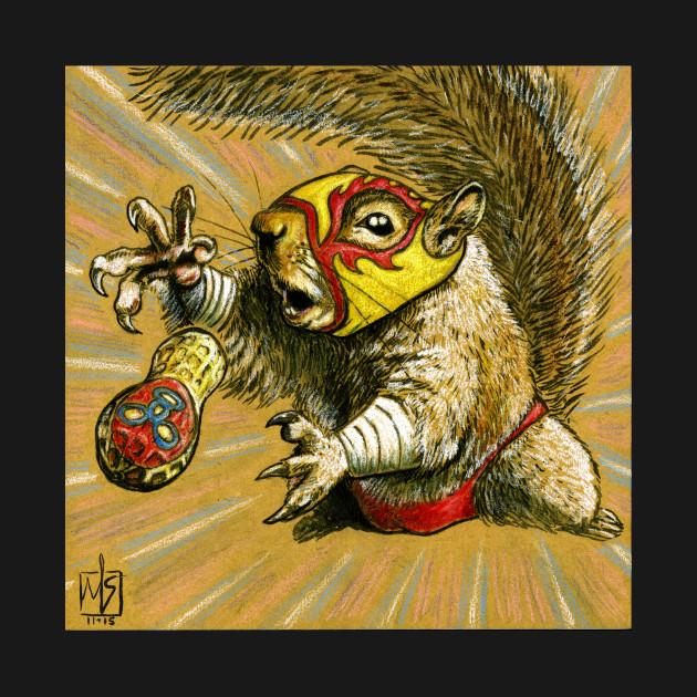 Luchador Squirrel going nuts