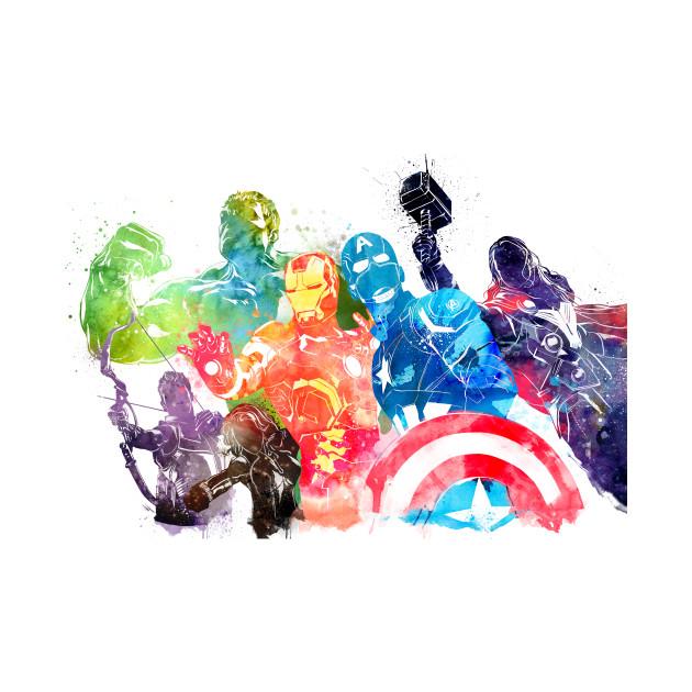 Avengers Watercolor - Marvel - T-Shirt