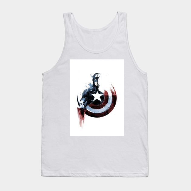 8a7176b10c414 Captain America Shield Marvel Back Superhero Avengers Art Design Tank Top