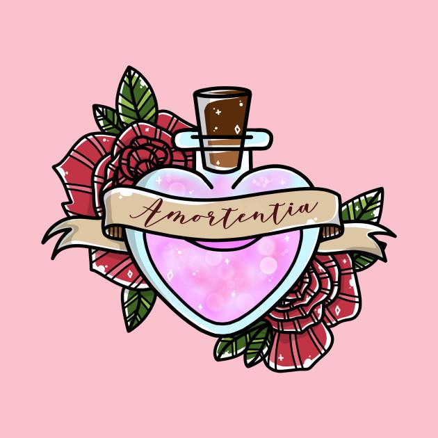 Love Potion in Heart Bottle