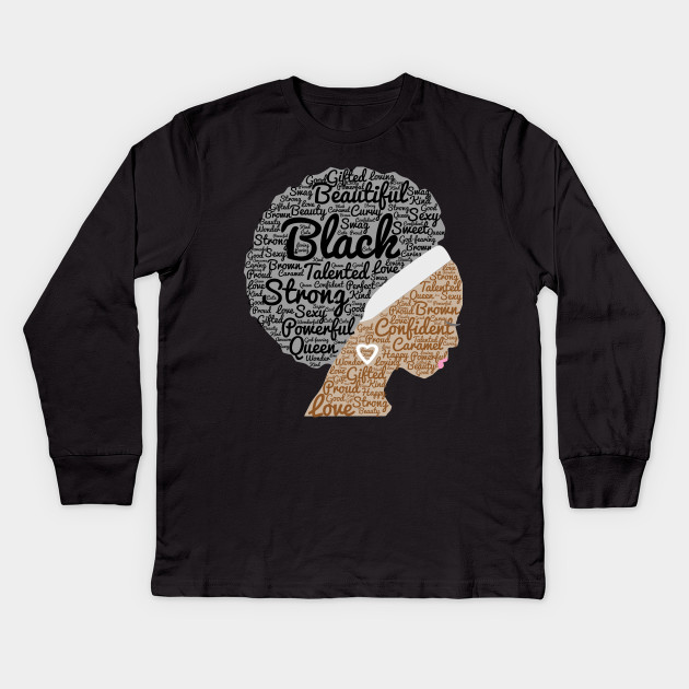 1b212981 Afro American Tee Shirt Afro Graphic Tee For Women And Kids Kids Long  Sleeve T-Shirt