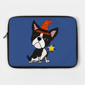 funny boston terrier dog wizard halloween shirt boston terrier