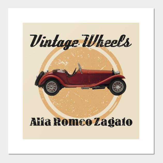 Vintage Wheels Alfa Romeo Alfa Romeo Posters And Art Prints - Alfa romeo posters