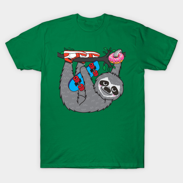 Skater Sloth and the donuts rain
