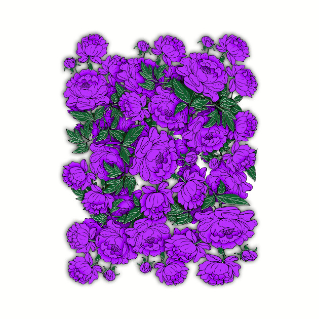 Purple Peonies Flowers Kids Hoodie Teepublic