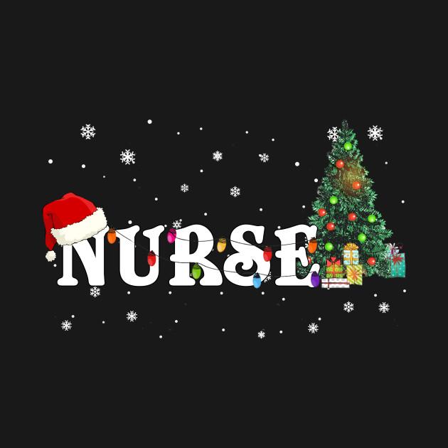 Nurse Christmas Svg.Nurse Christmas Santa Hat Holiday