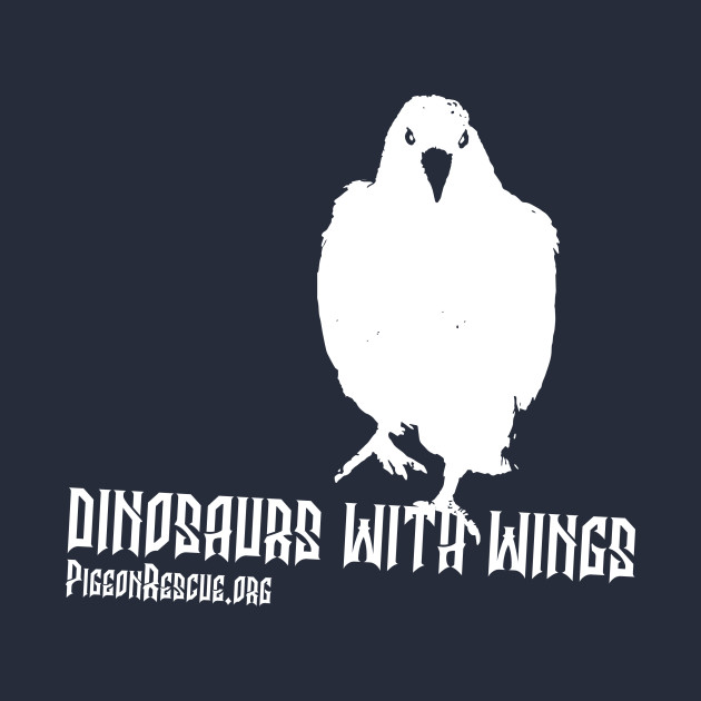 Dinosaurs With Wings (White)
