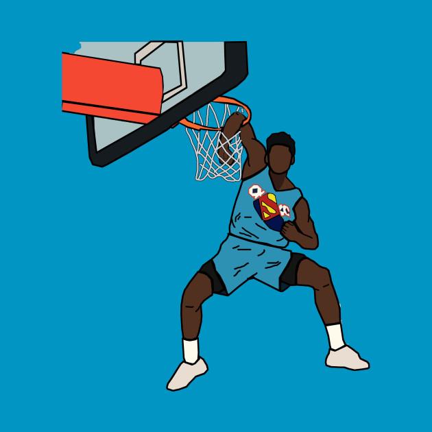 separation shoes d3f4d dc08b Hamidou Diallo NBA 2019 Slam Dunk Contest Superman - Oklahoma City Thunder
