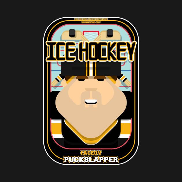 Ice Hockey Black and Yellow - Faceov Puckslapper - Bob version