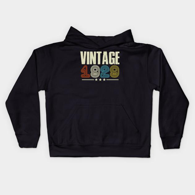 1929 Vintage Funny 90 Years Old Joke T Shirt 90th Birthday Gift Idea Kids Hoodie