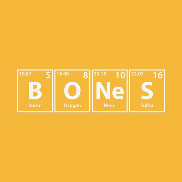 Bones (B-O-Ne-S) Periodic Elements Spelling