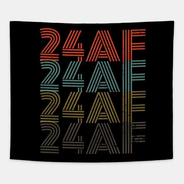 Funny 24th Birthday 24 AF Gift Vintage Rentro Tapestry