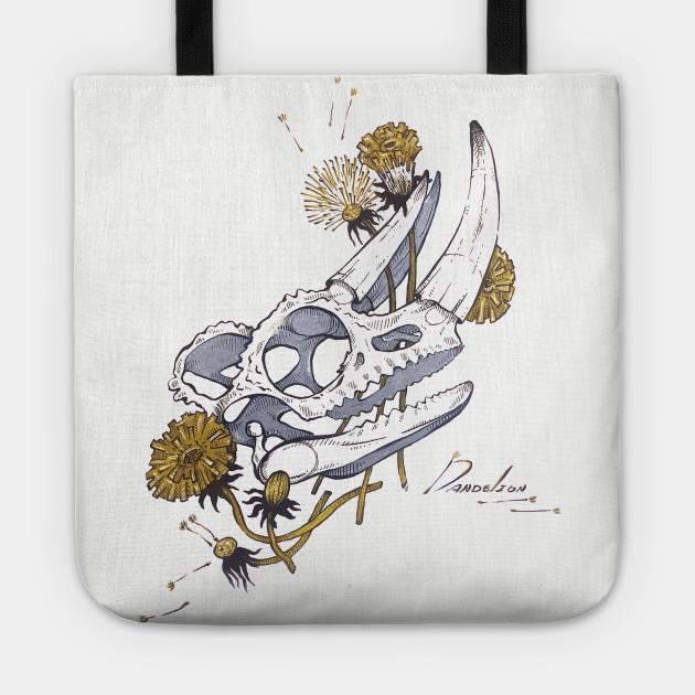 MorbidiTea - Dandelion with Chameleon Skull