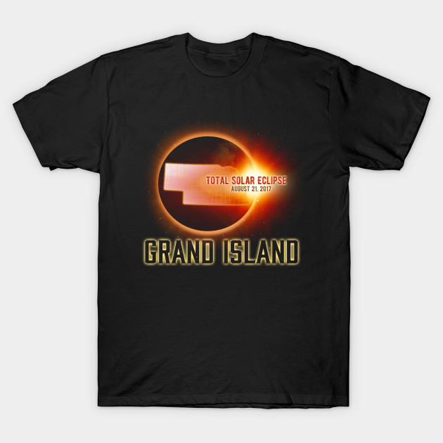 Total Solar Eclipse Shirts Gifts in Nebraska Grand Island Cities August 21, 2017 T-Shirt T-Shirt-TOZ