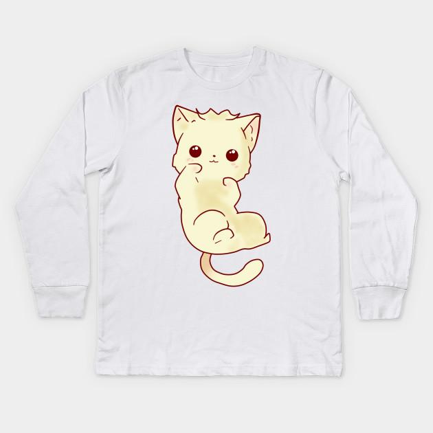 Chibi Cat Chibi Cat Kids Long Sleeve T Shirt Teepublic