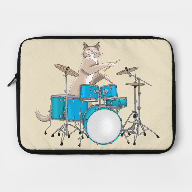 Cat Playing Drums