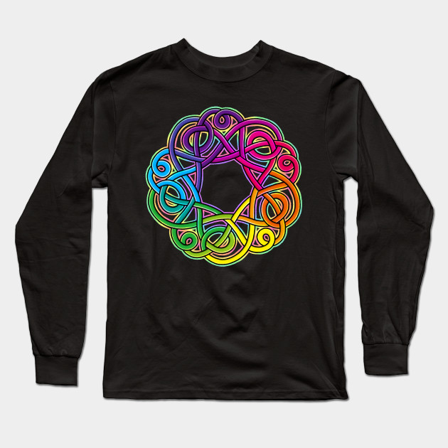 Peace and Love Knotwork Childrens Long Sleeve T-Shirt Boys Cotton Tee Tops
