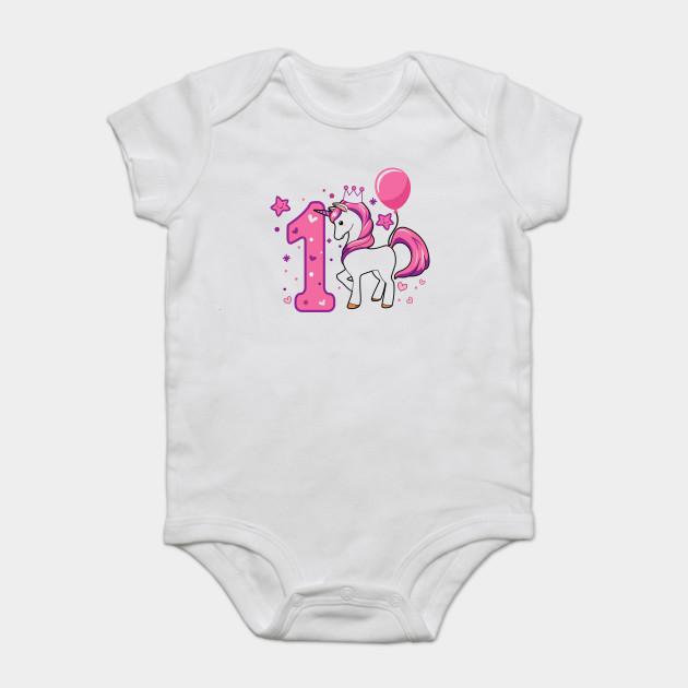 First Birthday Girls Horse 1st 1Girl Daughter Niece Cute Sweet One Year Old Mug Sticker Pillow Gifts Ideas Onesie