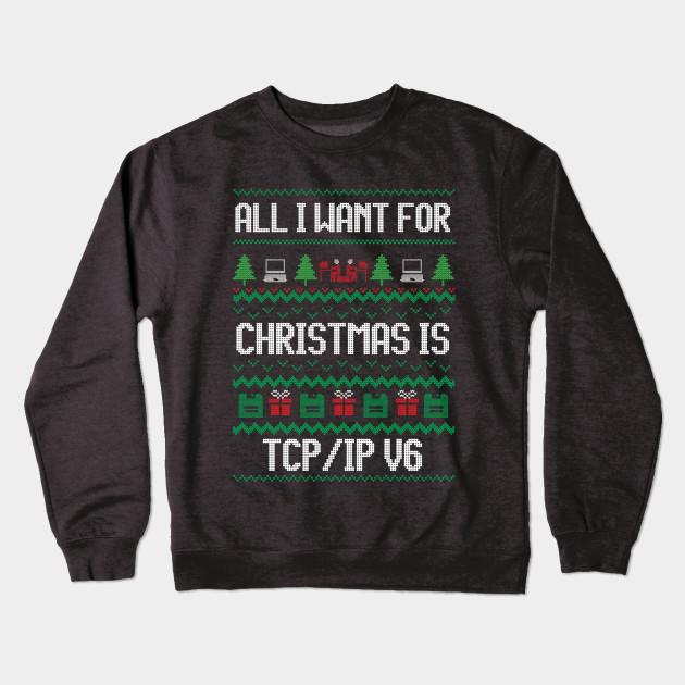 c7e1dd02 Funny Ugly Christmas Computer Programmer T-Shirt for Geek Crewneck  Sweatshirt