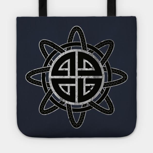 Shield Knot Norse Protection Symbol Shield Knot Tote Teepublic