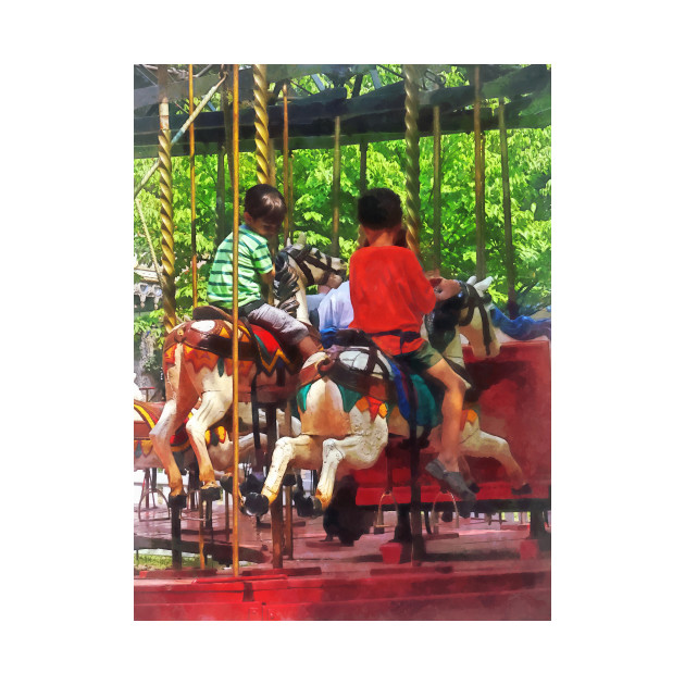 Carnival Midway -  Friends on the Merry-Go-Round