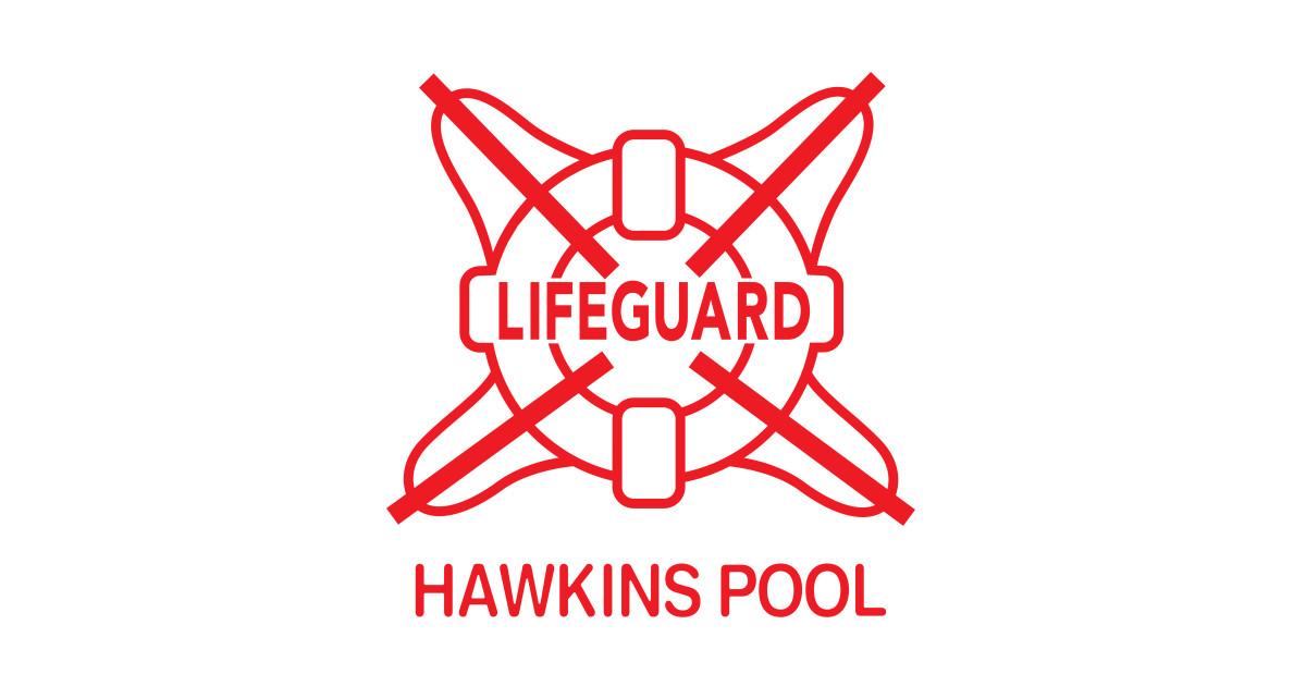 Hawkins Pool Lifeguard Red Logo Stranger Things Tank