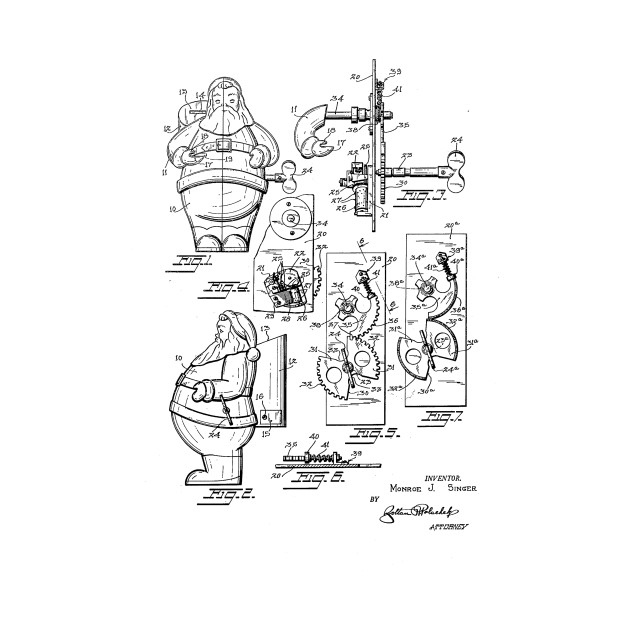 Christmas Ideas For Kids Drawing.Santa Toy Christmas Gift Design Patent Drawing
