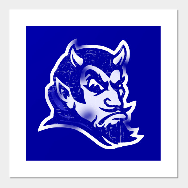 959db5ae1 Vintage Style Blue Devil Mascot (Distressed) Posters and Art Prints