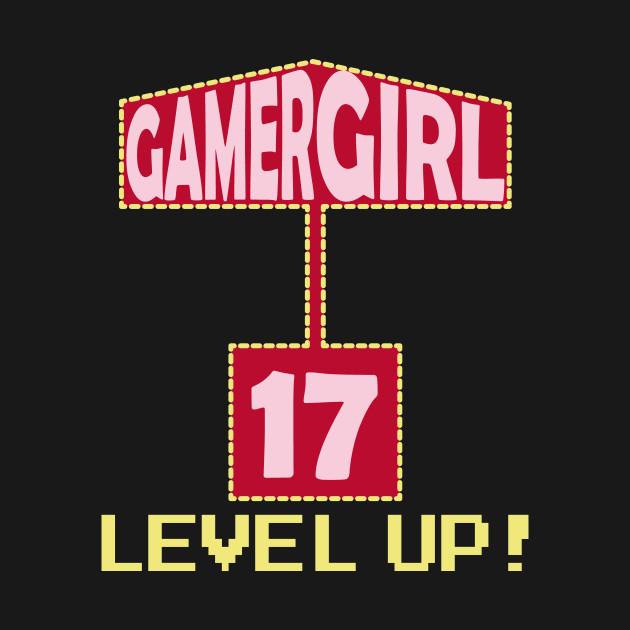 Gamer Girl 17th Birthday Present