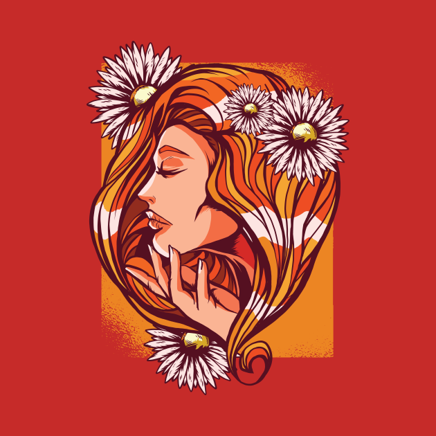 red haired women tshirt gift idea for women